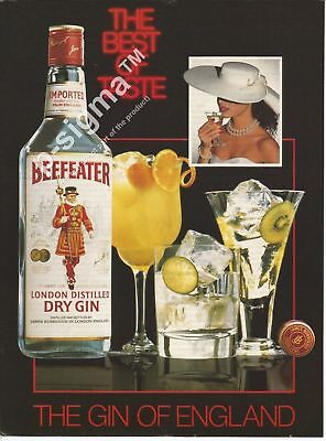 BEEFEATER London Dry Gin 1987 Vintage Print Ad # 166 8