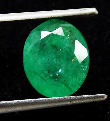 3.25 Ct Natural Oval Cut Beautiful Colombian Green Emerald Gemstone S