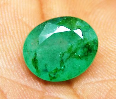 5.40 Ct Natural Oval Cut Beautiful Colombian Green Emerald Gemstone S