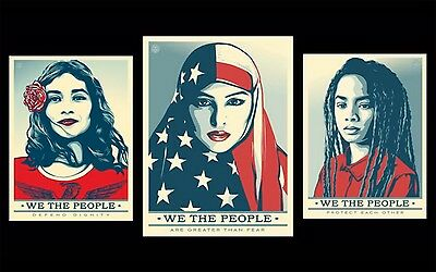 Shepard Fairey Obey • We The People Set • Defend, Protect & Greater • Signed