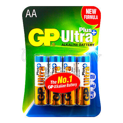 4 x GP Alkaline Ultra Plus AA batteries 1.5V LR6 MN1500 MIGNON EX:2023 Pack of 4