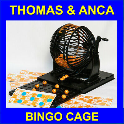 Family Bingo Cage Machine Lotto Lottery Numbers Game 1-90 Numbers 24 Cards