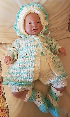 Baby/ Reborn Outfit Hand Knitted 0/3 months