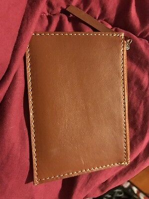 Brown Leather Card Coin Pouch Purse Wallet Anthropologie
