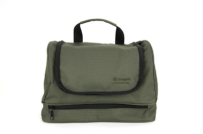 Snugpak Luxury Travel Wash Bag - Military Toiletries Bag Hanging Travel - Olive