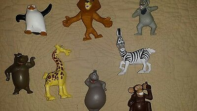 2008 Dreamworks 8 McDonald's  Madagascar 2 Complete Set All Working