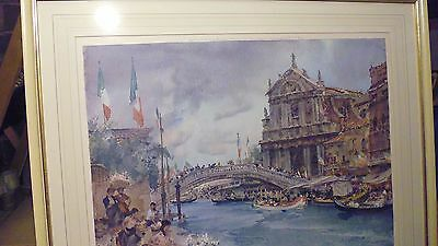 William Russell Flint Pencil Signed Limited Edition Print Venetian Festival