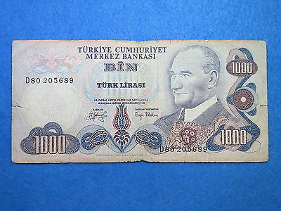 Turkey 1000 Lira 1970  banknote     [181]