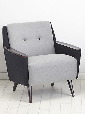 1of2 Vintage Retro 50s Mid Century Chair Cocktail Lounge Armchair