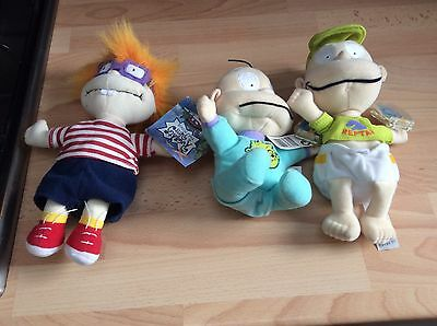 3x new rug rats dolls / toys dil pickles tommy pickles chuckie
