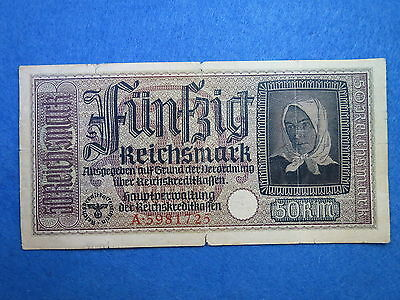 Germany 50 Reichsmark 1940-1945 WWII banknote  R-140   [169]