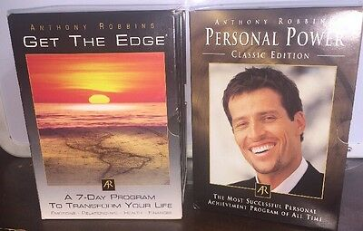 Anthony Tony Robbins Personal Power Classic Edition & Get the Edge CD Set