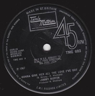 Tamla Motown JIMMY RUFFIN I'm Gonna Give Her All The Love I've Got Tmg 603 Ex