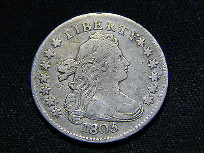 1805 10C Draped Bust Dime 4 Berries VF++ Rare!