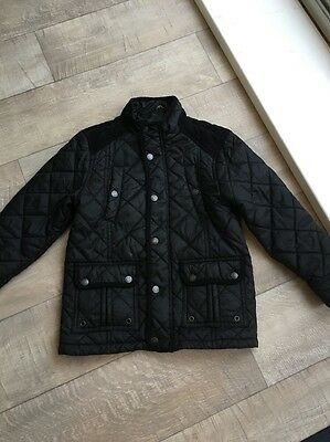 Boys Black Quilted Jacket Age 7-8