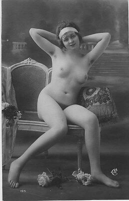 French NUDE real photo postcard circa 1920 Jean AGELOU 125