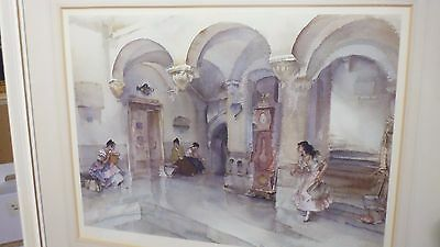 William Russell Flint Pencil Signed Limited Edition Print La Mairie , Manosque