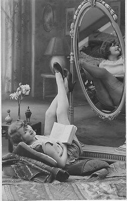 French NUDE real photo postcard circa 1920 BIEDERER 667 Flesh coloured