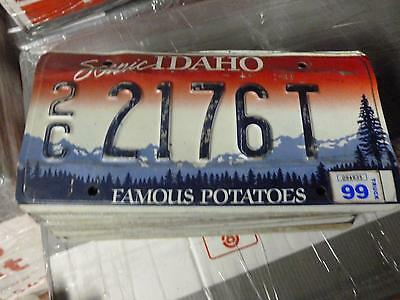 IDAHO*License Plate*2C 2176T*Scenic Rocky Mountains/Trees Famous Potatoes*ORIG !