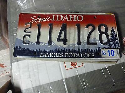 IDAHO*License Plate*2C 114 128*Scenic Rocky Mountains/Trees Famous Potatoes*ORIG
