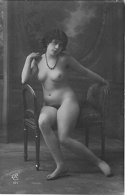French NUDE real photo postcard circa 1920 Jean AGELOU 107