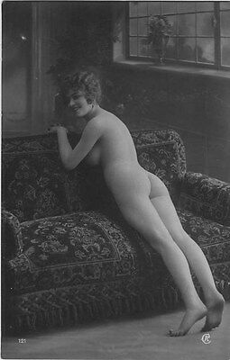 French NUDE real photo postcard circa 1920 Jean AGELOU 121