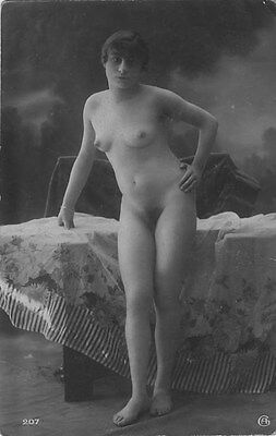 French NUDE real photo postcard circa 1920 Jean AGELOU 207