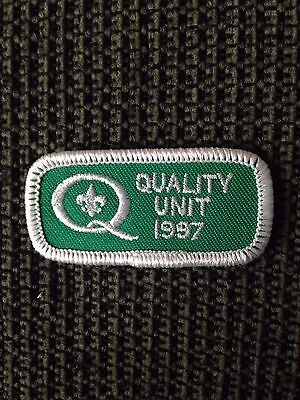 """Boy Scouts Of America- Vintage """"Quality Unit Award 1997 """" (1) Patch"""