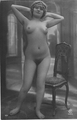 French NUDE real photo postcard circa 1920 Jean AGELOU 101