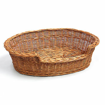 Medium Large Wicker Cat Dog Bed Basket Well Made No Chemicals