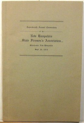 1914 New Hampshire Firemen's Association convention proceedings