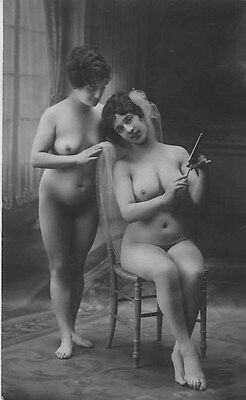 French NUDE real photo postcard circa 1920 CP238