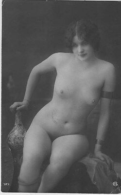 French NUDE real photo postcard circa 1920 Jean AGELOU A123