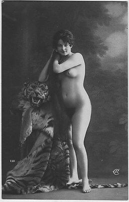 French NUDE real photo postcard circa 1920 Jean AGELOU A130