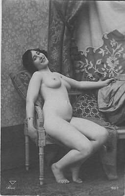 French NUDE real photo postcard circa 1920 PARIS407