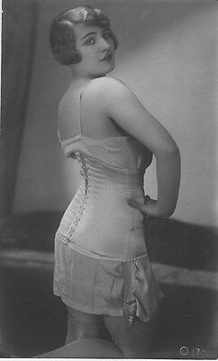 French NUDE real photo postcard circa 1920 CP242
