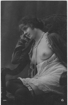 French NUDE real photo postcard circa 1920 Jean AGELOU A124