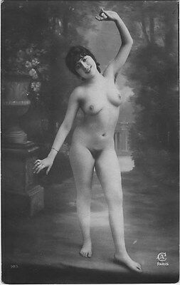 French NUDE real photo postcard circa 1920 Jean AGELOU A105