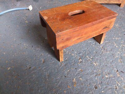 Vintage Solid Wood Milking Stool/ Footstool/ Child's Seat, Collectors Piece