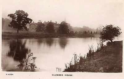 clumber house worksop notts real photo postcard