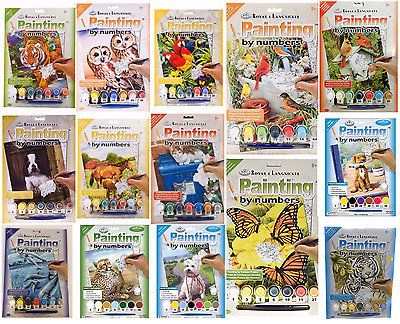 30 DESIGNS CANVAS PAINT BY NUMBERS ARTIST PAINTING KITS Animals - Kids - Adults