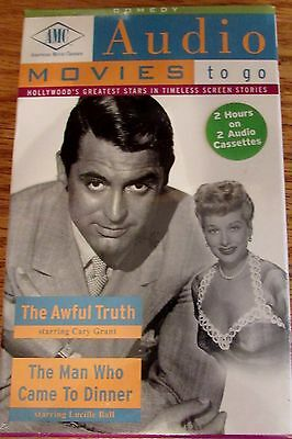 AMC Audio Movies to go The Awful Truth & The Man Who Came To Dinner  Brand New
