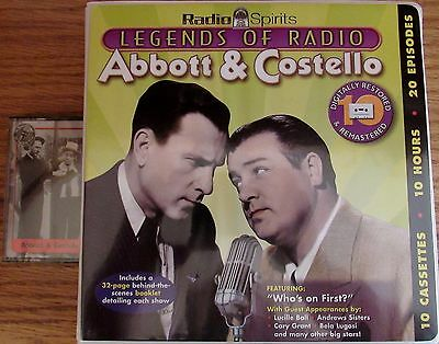 Radio Spirits Abbot & Costello 10 cassettes and Abbot & Costello greatest hits