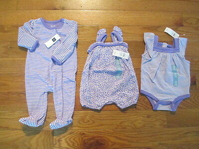 3 piece LOT of Baby Girl Spring/Summer clothes size 0-3 months NWT
