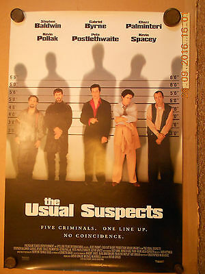 The Usual Suspects Film Cinema Movie Original USA Single Sheet Poster