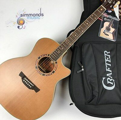 Crafter GAE-15/N Electro Acoustic Guitar in Natural - Includes Crafter Gig Bag