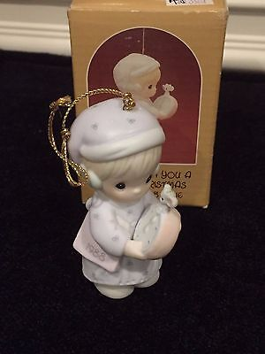 Precious Moments Ornament 1988 Time to Wish you a Merry Christmas #115320