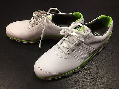 Footjoy Dryjoys Casual Golf Shoes - White/Lime - Size 9.5 UK