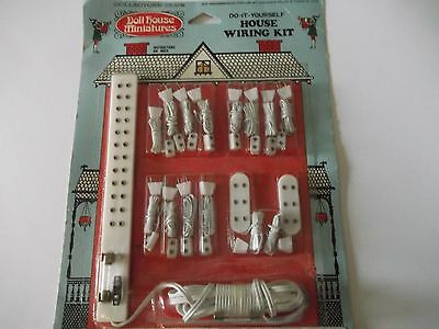 VTG Doll House Miniatures - Do It Yourself House Wiring Kit  NIP