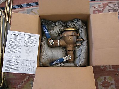 """Febco 765 Backflow Prevention Assembly 1-1/2""""  Untested Original Box Instruction"""
